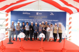 GROUND BREAKING CEREMONY - GROUND GRANULATED BLAST FURNACE SLAG STORAGE PROJECT (VGSI PILES)