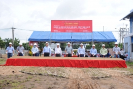 GROUND BREAKING CEREMONEY TILES PROCESSING FACTORY AND WEREHOUSE - RITA VO LTD.,