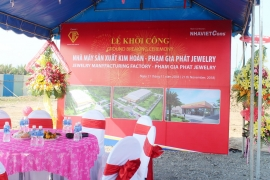 GROUND BREAKING CEREMONEY OF PHAM GIA PHAT JEWELRY MANUFACTURING FACTORY